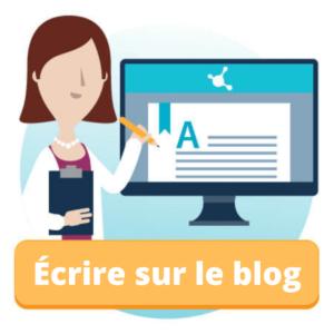 Écrire sur le Blog