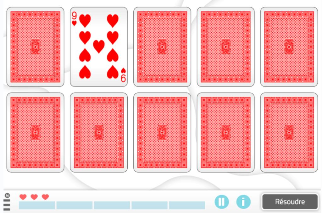 Forme des paires de cartes, activités NeuronUP - personnes trisomiques