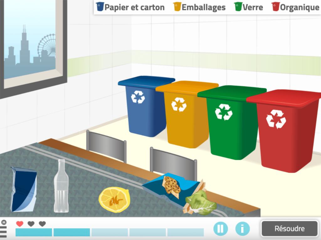 Recycle tes déchets - jeu NeuronUP