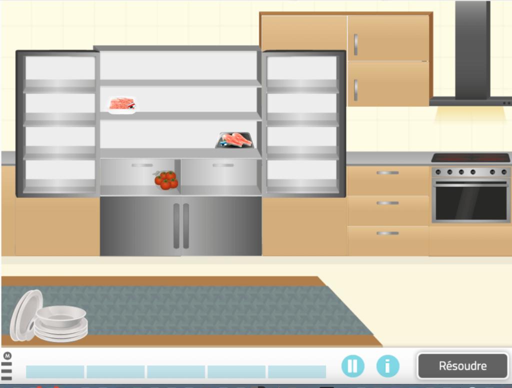 Mets en ordre la cuisine - jeu NeuronUP